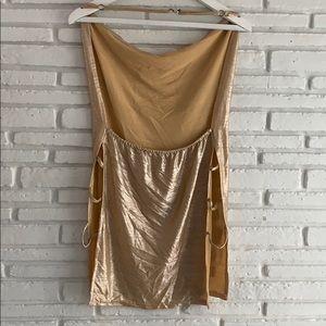 Gold Halter backless dress 💛